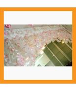 pink balloon shades valance curtain sheer window treatment kitchen waver... - $39.00