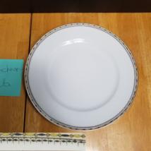 Noritake Pandora Luncheon Plate Black Yellow Geometric Boarder 1920's - $5.93
