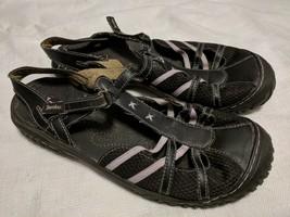Jambu J-41 Women's Dark Brown Closed Toe Ankle Strap Sandals Size 8 M - $19.79