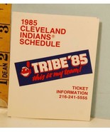 1985 Cleveland Indians Baseball Schedule Molly McGuire's Holiday Inn Spo... - $3.95