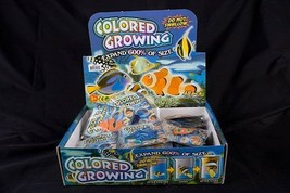 6 assorted GROWING FISH science grow ocean sea creature toy expanding no... - $6.31