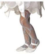 Rubies Girl's Fancy Fashion Dance Mesh Bow Tights - White, Blue, Pink, L... - $6.50
