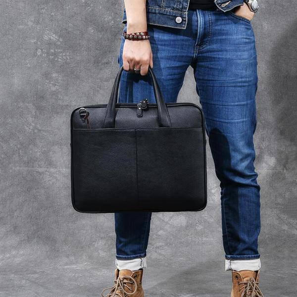 Sale, Full Grain Leather Men Briefcase, Tote, Messenger Bag, Laptop Bag, Shoulde image 5