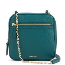 Vera Bradley Leather Elena Square Crossbody Bag in Sycamore Forest Green - $89.90