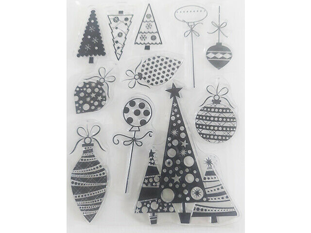 Christmas Trees, Ornaments, and More Clear Stamp Set
