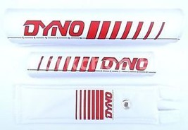 NEW DYNO old school BMX bicycle padset pads - EARLY LOGO - RED *MADE IN ... - $42.06