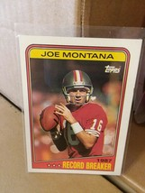 1988 Topps Joe Montana #4 Football Card - $43.95
