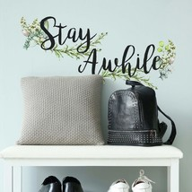 Roommates Stay Awhile Quote Peel And Stick Wall Decals.. - $25.99