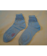 Child's Vintage Socks ~ Anklets ~ Blue ~ New Old Stock - $6.00