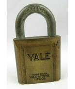 Vintage YALE & TOWNE MFG.CO Brass Pin Tumbler High Grade USA Padlock Lo... - $50.00