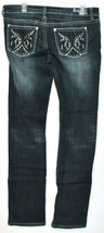 Request Women's Dark Blue Distressed Rhinestone Embellished Jeans Size 13/32 image 2