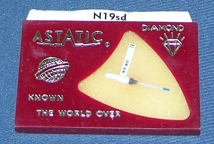 RECORD PLAYER STYLUS NEEDLE Astatic N19-SD used in ASTATIC 223 231D 173-D​S73