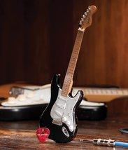 Fender Stratocaster Black Vintage Distressed Official Mini Guitar Replica - $36.99