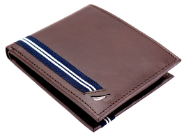 Nautica Men's Genuine Leather Credit Card ID Double Billfold Passcase Wallet image 14