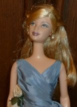 CE pretty BARBIE blonde Doll wearing fancy blue gown - $59.99