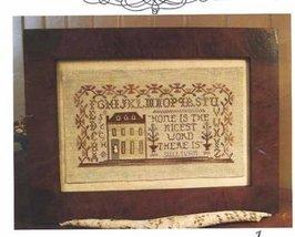 A Family Homestead PS50 cross stitch chart Homespun Elegance - $9.00