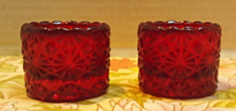 Vintage RED Fenton Glass DAISY BUTTON Open Salt // Salt Dip // Salt Cellar - $16.00