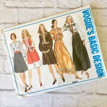 Vintage Vogue Misses Dress Pattern 2648 Uncut Size 8 Floor Length Knee 1970's - $19.79