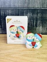 Hallmark Keepsake Christmas Ornament - Snow In Love 2012 Snowman Couple - $14.84