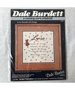Dale Burdett Cross Stitch Kit Love Bearth All Things CK234 New 1985 - $14.50