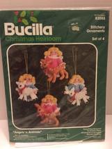 "Bucilla ""Angels'n Animals"" Stitchery Ornaments 82088 Set of 4 - $9.49"