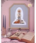 Easter Blessings Jesus Lion Lamb Terri Walker Cross Stitch Pattern Leaflet - $4.47