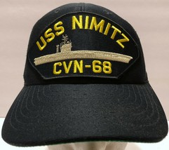 Eagle Crest US Navy USS Nimitz CVN-68 Patch Black Snapback Hat Forces US... - $33.65
