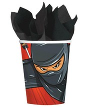 Ninja Zone Black Belt Paper Cups 9 oz Birthday Party Supplies 8 Per Package - $3.91