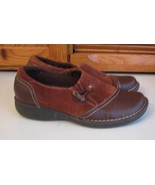 Clarks Artisan SHOES Brown Suede Leather Loafers Woman's 7 M - $15.83