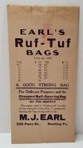 READING PA, M.J. EARLS Paper, Advertising SALESMAN SAMPLE Bag RUF-TUF Ea... - $14.95