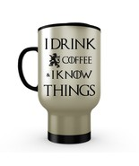Game of Thrones Travel Mug I Drink COFFEE & I Know Things Stainless Stee... - €17,37 EUR