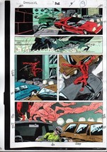 Original 1992 Daredevil 302 page 9 Marvel Comics color guide art: 1990's... - $99.50