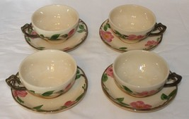 Lot of 6 Sets Vintage Franciscan Desert Rose Tea Cups & Saucers England ... - $32.62
