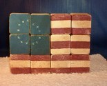 Handcrafted Antiqued Wooden UNITED STATES FLAG - New, Fabulous Item!!