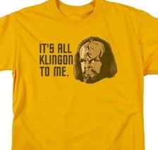 Star Trek T-shirt Free Shipping Worf It's All Klingon To Me cotton tee CBS1183 image 2