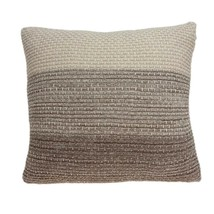 "20"" x 0.5"" x 20"" Unique Transitional Tan Cotton Accent Pillow Cover - $52.94"