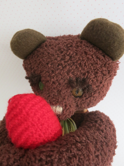 Handmade artist teddy bear soft toy - birthday gift - ooak - handcrafted