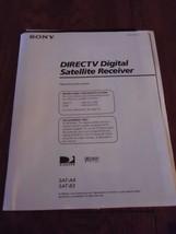 Sony DirecTV Digital Satellite Receiver SAT-A4 SAT-B3 Owners Manual Inst... - $3.99