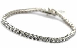Bracelet Tennis Argent 925, Zirconia Cubique Blanc 3 mm, Longueur 18 CM image 1