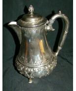 Antique Silverplate Tea Pot Atkin Brothers Victorian Bulbous - $36.10