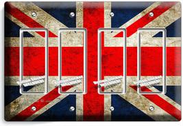 ENGLAND GREAT BRITAN RASTIC UK FLAG 4 GFCI LIGHT SWITCH PLATE ROOM HOME ... - $19.79