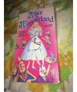 RARE Lou Bunin Alice in Wonderland VHS Tape Stop Motion - $12.78