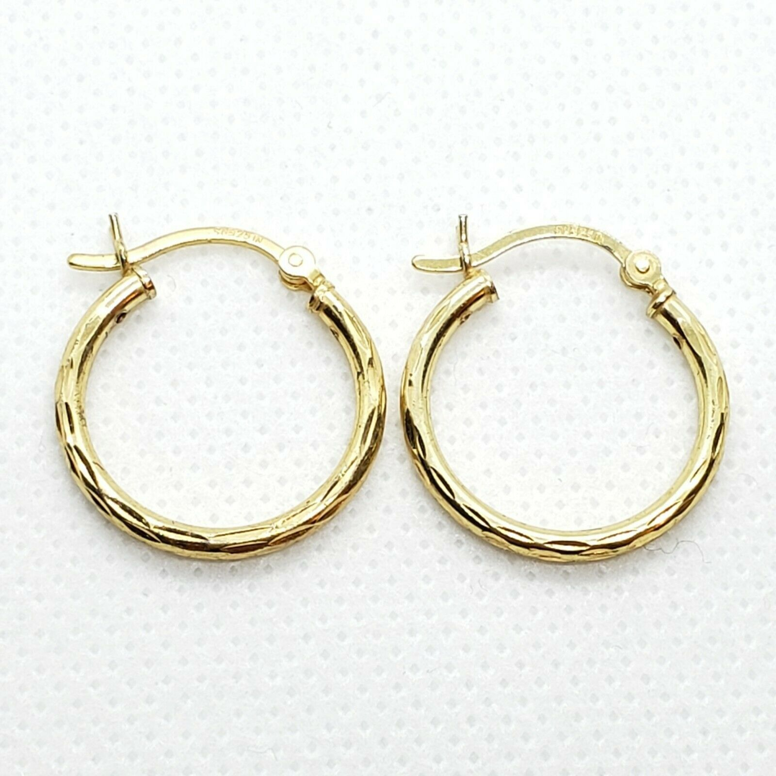 Primary image for SU IN 18k On Sterling Silver 925 Hoop Earrings Free Shipping