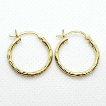 SU IN 18k On Sterling Silver 925 Hoop Earrings Free Shipping - $14.99