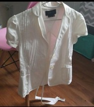 BCBG White Petticoat Style Short-Sleeved Jacket - $49.50