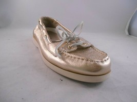 Lauren by Ralph Lauren Gold Metallic Leather Boat Shoe Women's Size 9 M - €27,45 EUR