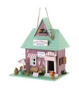 ICE CREAM SHOP Wooden Birdhouse Outdoor Decor - $22.42