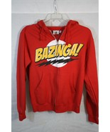 "The Big Bang Theory Label ""Bazina"" Zip Up Hooded Red Jacket Small - $23.18"