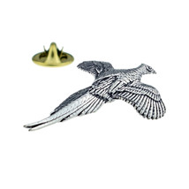 Pheasant English Pewter clip on rear Pin ,Badge / tie pin unisex gift gift boxed