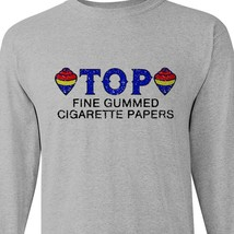 TOP cigarette rolling papers long sleeve t-shirt Zig Zag JOB Joker marijuana tee image 1